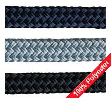 Dockline kwaliteits landvasten: zilver, zwart, beige en navy