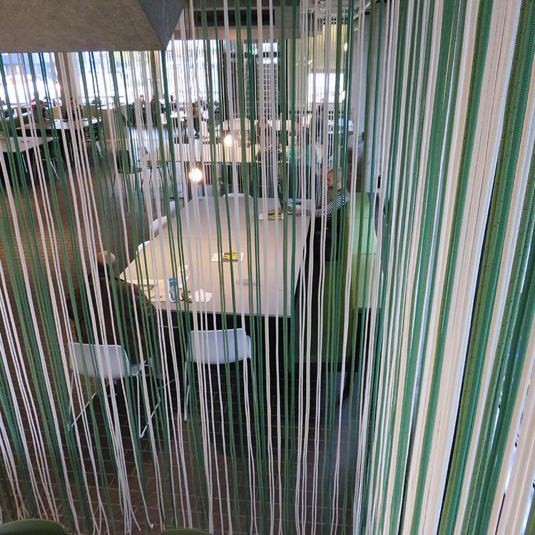 Kunstprojecten - touwen gordijn