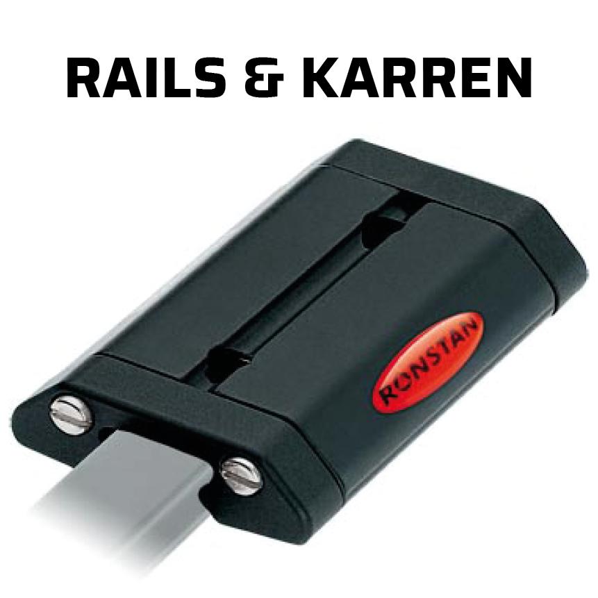 Ronstan rails & karren