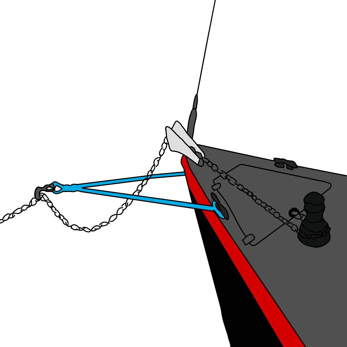 Snubberlijn met Wichard ankerhaak