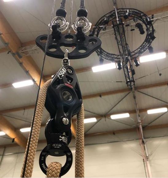 Touwen voor circus rigging - Foto: Noe Robert