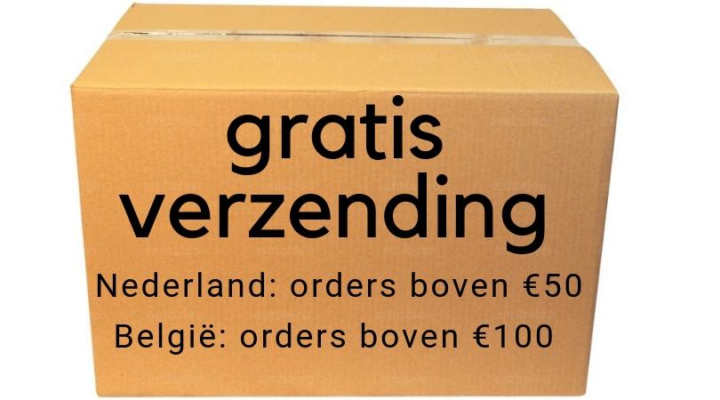 Gratis verzenden binnen Nederland en Belgie