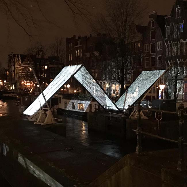 Touwen voor kunstrprojecten - Amsterdam Light Festival